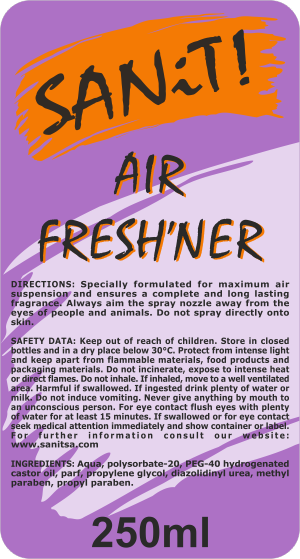 Air Fresh'ner Label