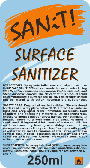 Surface Sanitizer Label